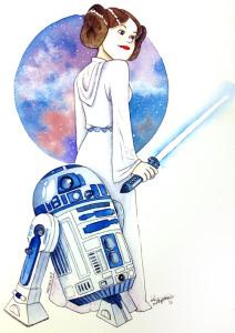 Leia y R2D2