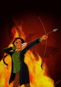 La chica en llamas